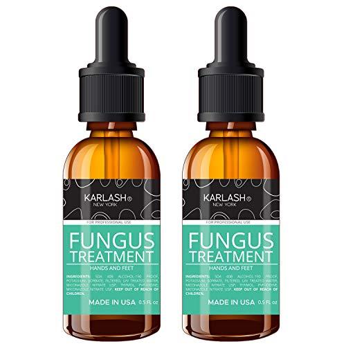 Karlash Finger & Toenail Fungus Treatment Kit EXTRA STRONG Made in USA Nail Fungus Care Nails Toe Nail 0.5 oz (Pack of 2)