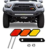 Jusen Tri-color grille badge logo decoration accessories car truck label for Tacoma 4Runner Tundra Rav4 Highlander's T-G3Y three-color badge logo barbecue grill