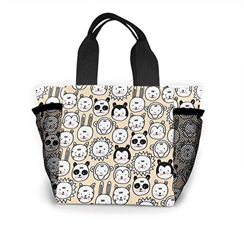 Cute Animal Pattern Handbag Women Fashion Bag Reusable Shopping Bags Light Handbags High Capacity Gift Bags Food Storage Bags