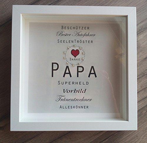 Bild PAPA Danksagung Weihnachtsgeschenk Papa Superheld Beschützer Tränentrockner Alleskönner Danke Papa Vorbild