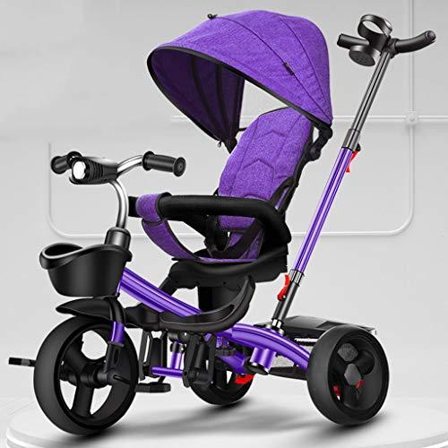 Kiter Baby kinderwagen kinderwagen driewieler opvouwen Draagbare kind fietswagen met pedaal verstelbare trolley roterende stoel opslag frame luifel