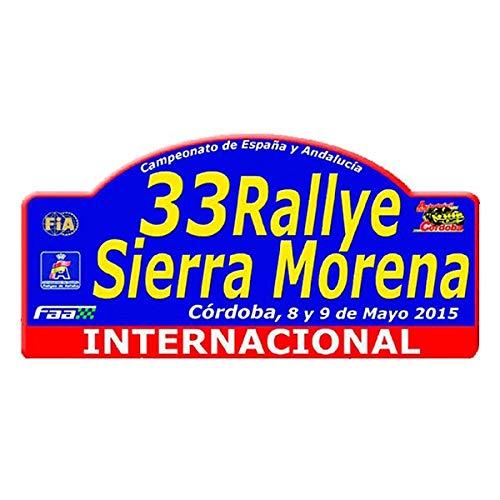 Pegatina Placa Rallye Internacional Sierra Morena 2015 PR69