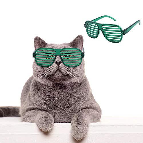 Vvciic Gafas de sol de moda retro para mascotas, gafas de sol de mosaico, disfraz de gato para disfraz de fiesta
