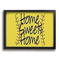Home Sweets Home イエロー アルファベット アートパネル 装飾画 額縁付き インテリア 壁掛け シンプル 壁飾り 家の壁のアートパネル 装飾画 北欧 現代 アートボード 木枠額装絵画 アート 美しい 玄関 リビングと寝室の飾り 部屋装飾 おしゃれ 写真 ソファの背景絵画 新居祝い