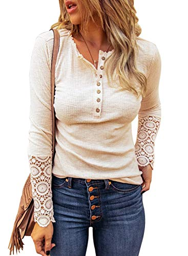 Happy Sailed Donna Scollo a v Manica Lunga Camicetta Camicia Blusa Shirt S-XXL