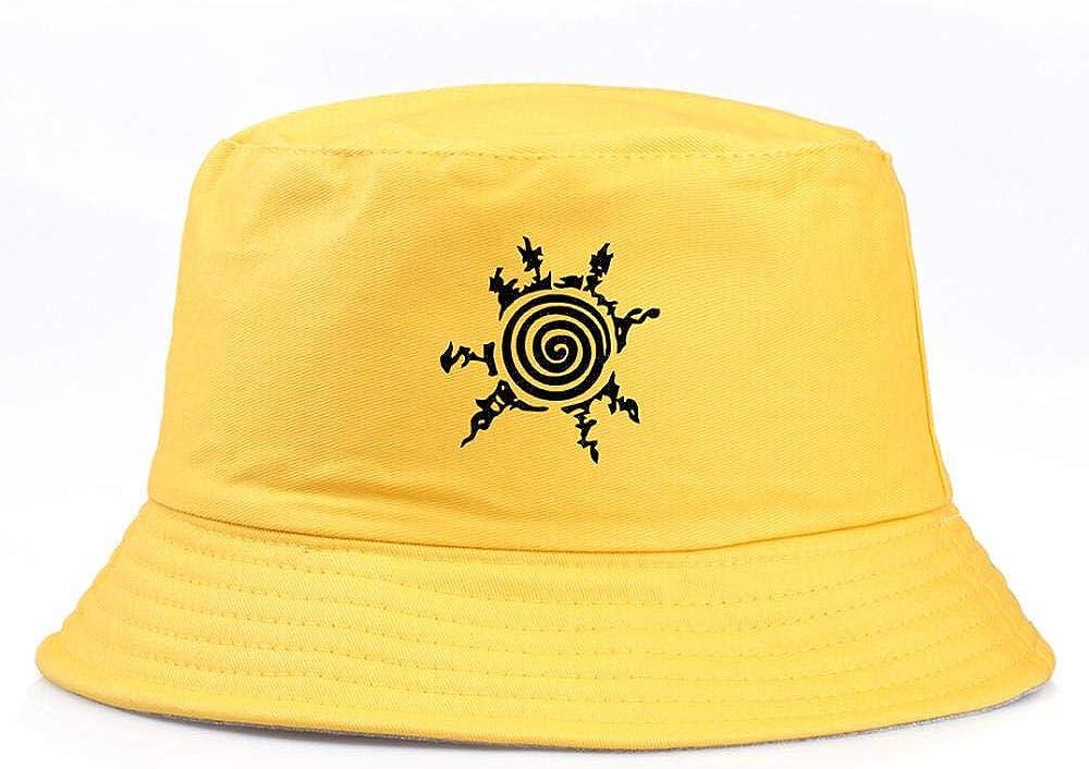 Anime Naruto Bucket Hats Summer Travel Hiking Beach Sun Unisex Outdoor Cap 56-58cm