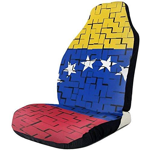 Venezuela Vlag Puzzel Mooie Voorstoel Covers Auto Stoelhoezen Universele Auto Voorstoelen Protector