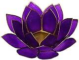 Portacandela Loto 7� Chakra Capiz viola - oro...