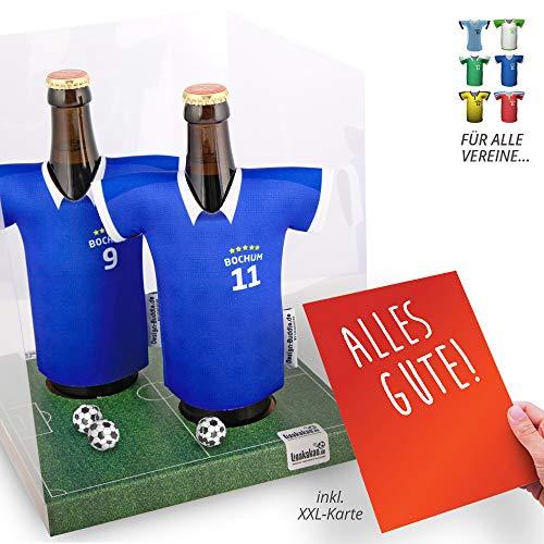 Der Trikotkühler | Das Männergeschenk für Bochum-Fans | Langlebige Geschenkidee Ehe-Mann Freund Vater Geburtstag | Bier-Flaschenkühler by Ligakakao