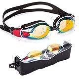 OMG_Shop, occhialini da nuoto per triathlon, impermeabili, anti appannamento, protezione UV, occhiali da nuoto per adulti, uomini, donne, giovani, bambini e bambini, a scelta multipla