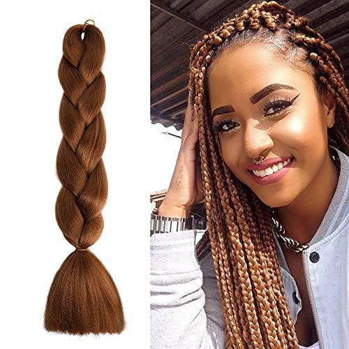 24 Pouces Jumbo Braids Extensions de Cheveux,BARSDAR Extensions Cheveux pour tressage Ombre pré-étirée Rajout Cheveux Naturel Fibre Synthétique Extension Tresse Pour Tresses Africaine