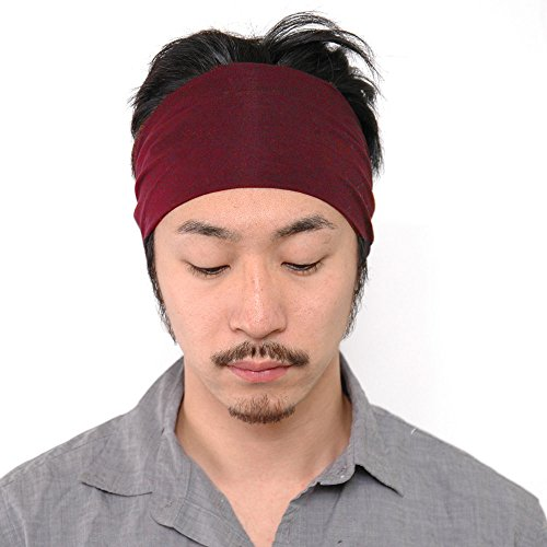 Casualbox Uomo giapponese elastico Fascia Per Capelli capelli fascia accessorio sport vino