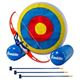 Franklin Sports Kids Archery Target - Inflatable Standing Target with Self-Stick Bullseye & Arrows