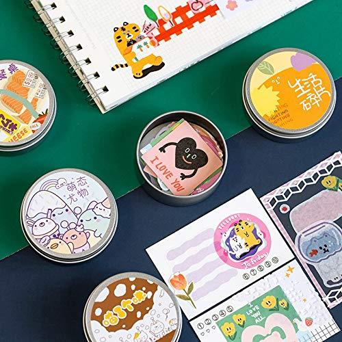 Niedliche Tiernahrung dekorative Briefpapier Aufkleber Scrapbooking DIY Tagebuch Album Aufkleber Bürozubehör50pcs / Box