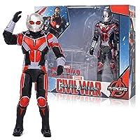 Ffjjdls スーパーヒーローズアベンジャーズエンドゴムアイアンマンハルクキャプテンアメリカスパイダーマンアクションフィギュアモデル人形おもちゃキッズギフト (Color : Antman)