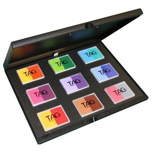 TAG Face Paint 9x50g Color Split Cake Palette - Regular (50 g) by TAG Body Art
