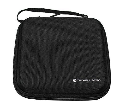 techPulse120 Schutzhülle Hülle Hartschalentasche Tasche Schale Case Bag für Externe DVD Blu-ray Laufwerke und Festplatten HDD Schwarz