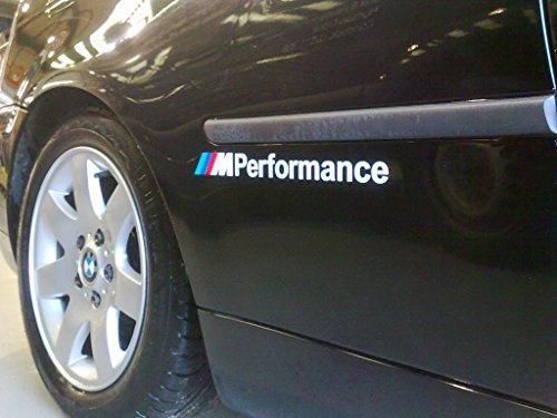 BMW M Performance SS20004 Adhesivo para vehículos, de vinilo, paquete de 2 unidades