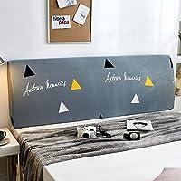 YANJIN 布製の伸縮可能なヘッドボードカバー、ヨーロッパの寝室の装飾ダストカバー、オールインクルーシブのベッドサイドのソフトパックベッド背もたれプロテクター洗える (Color : P, Size : 200cm)