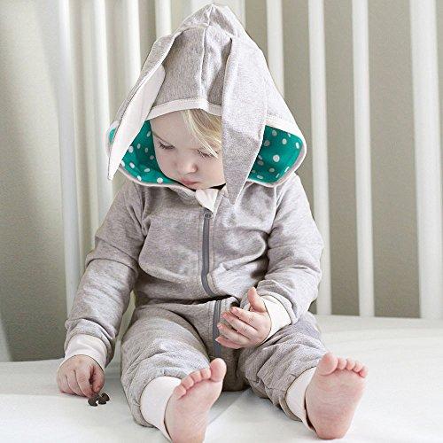 Hui.Hui Combinaison avec à Capuchon Longue Oreille pour Enfants,Hiver Pas Cher Ensemble Cardigan Pull Pullover Vêtements Manteau Noël Cadeau pour Enfants