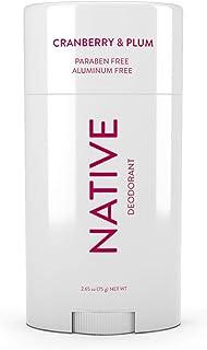Native Deodorant - Natural Deodorant - Gluten Free, Cruelty Free - Free of Aluminum, Parabens & Sulfates - Born in the USA - Cranberry & Plum