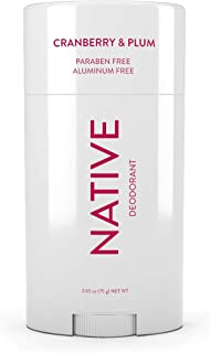 Native Deodorant - Natural Deodorant - Gluten Free, Cruelty Free - Free of Aluminum, Parabens & Sulfates - Born in the USA - Cranberry & Plum