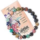Subherban Essential Oil Bracelets - Aromatherapy Bracelet - Lava Rock Anxiety Bracelet - TERRA - Handmade...