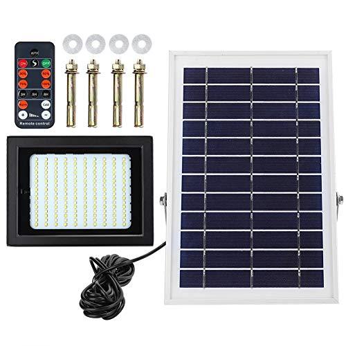 Belissy Control de luz de inundación 160LED luz Solar Impermeable Remoto accionado Yarda del jardín al Aire Libre de la lámpara de la Calle