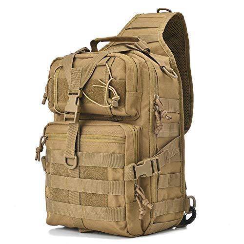NANANANA Tactical Sling Bag Pack Military Rover Shoulder Sling Backpack EDC Molle Assault Range Bags Day Pack