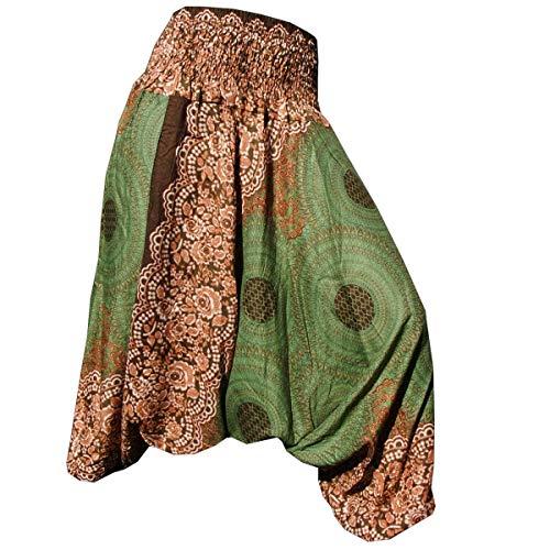 PANASIAM Aladin Pants, Design-style: Mandala 1, olivegruen