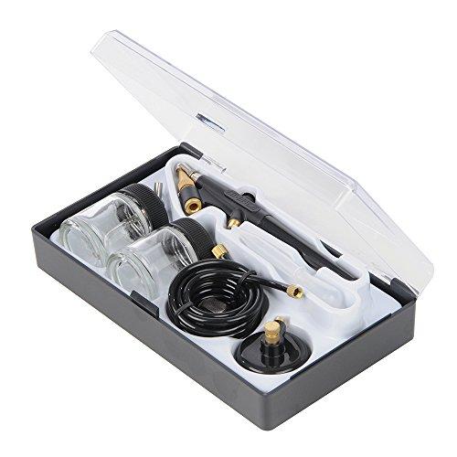 Silverline 380158, Aerógrafo para manualidades con 6 piezas, 22 ml