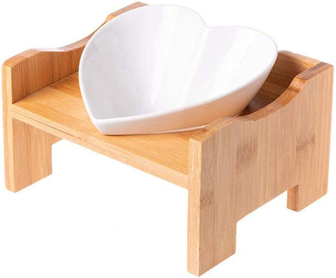 XHJTD Elevated Year-end Surprise price gift Dog Bowls Heart Shape Sta Water Food Feeder Pets