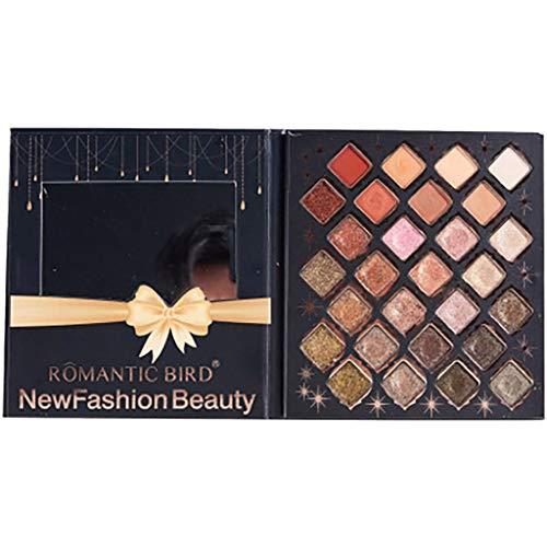 Routefuture Beauté Belle Femme, Palette de Fard à paupières Dubai 28 Couleurs Disque de Maquillage Net Red Streamer Fard à paupières Chaude Matte Glitter Oeil Ombres Naturel