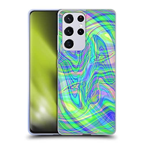 Head Case Designs Licenza Ufficiale Suzan Lind Verde Porpora Marmoreo Cover in Morbido Gel Compatibile con Samsung Galaxy S21 Ultra 5G