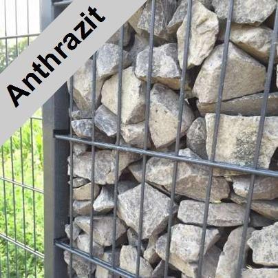 Gabbione/altezza 163cm/lunghezza 32,5meter/Antracite/Gabionen/Antracite/163–32.5/protezione vista trennwand pietra cestino griglia muro di pietra recinzione Gabionen Wire Cestino
