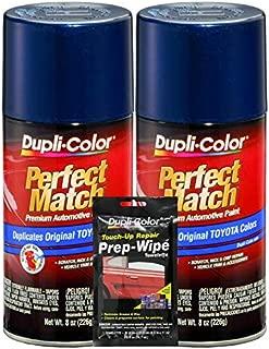 Dupli-Color Dark Blue Pearl Exact-Match Automotive Paint for Toyota Vehicles - 8 oz, Bundles Prep Wipe (3 Items)