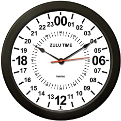 Trintec 24 HOUR MILITARY TIME SWL ZULU TIME 24HR WALL CLOCK 10