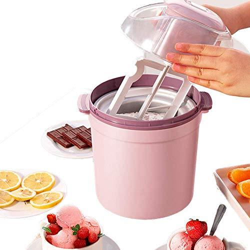 SEESEE.U Máquina automática para Hacer Helados en Color, máquina para Hacer Helados, Helado de Yogurt Helado y Helado (Rosa)