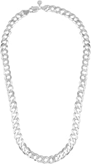 Jewel99 Curb Platinum Plated Sterling Silver Chain