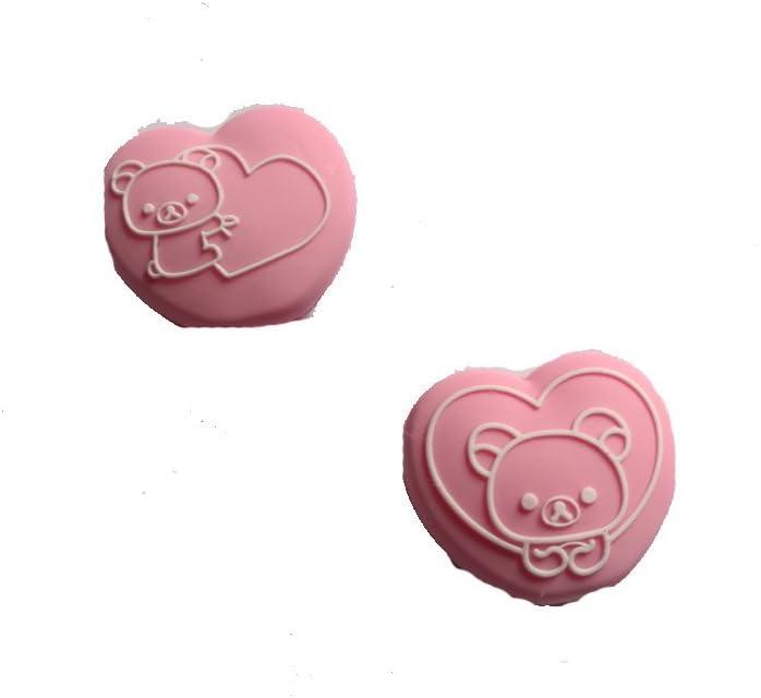 Racquetball /& Squash Racket Damper Bear Tennis Vibration Dampeners Badminton Weiquanji Pink Heart with Bear Silicone Vibration Dampeners for Tennis