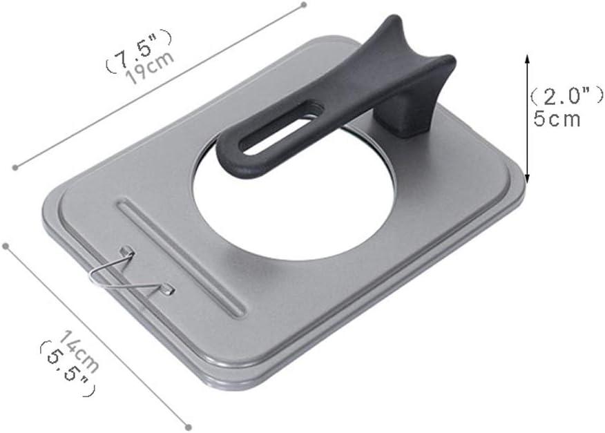 Couvercle En alliage d'aluminium permanent Pot couvercle carré Couvercle 14 * 19cm Couvercle universel (Color : Gray) Black