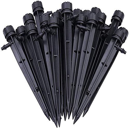 U-Tote 50 Piezas Mangueras de 4/7 mm Kit de Irrigación Ajustable de 360 Grados para Jardines Invernadero y Lechos de Flores Sistema de Irrigación Riego por Goteo para Jardín