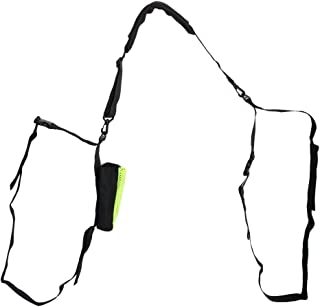 Ogquaton Durable Pl/ástico Negro Pealess Finger Grip Deportes /Árbitro Silbato