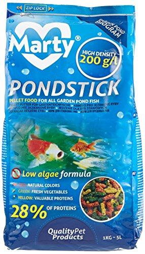 MARTY Pond Stick Nourriture pour Poisson 200 g/L 5 L 1 Kg