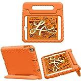 iMoshion Compatible con iPad Mini (2019), iPad Mini 4 – Funda para tableta infantil – Funda para tablet Kids Case en color naranja con asa y soporte [resistente, antideslizante y antigolpes]