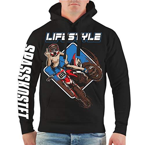 Spaß kostet Männer und Herren Kapuzenpullover Motocross Freestyle Größe S - 4XL