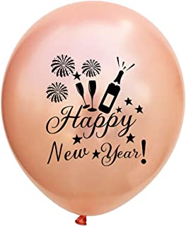 Amosfun Treinta y dos adornos de año nuevo,papel de colores globos,fotos de fondo,artículos de fiesta.