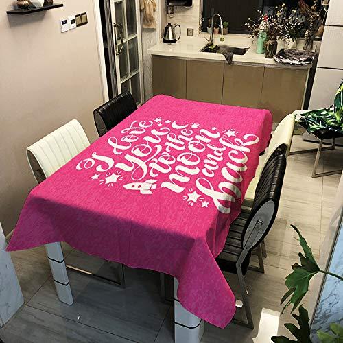 LIUJIU Mrs Sleep - Mantel de algodón y lino para cocina, rectangular, antimanchas, 90 x 90 cm