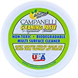 Campanelli's Cleaning Paste - Professional Formula Multi-Surface Cleaner & Polish - Safe, Eco-Friendly, Non-Toxic, Natural Multi-Purpose Cleaning Product - No Bleach or Solvents - No Residue (12 oz)