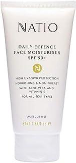 Natio Daily Defence Face Moisturiser SPF50+ 50ml, 50 ml